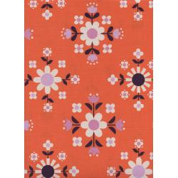 K3057-001 Welsummer - Florametry - Sweet Orange Unbleached Cotton Fabric