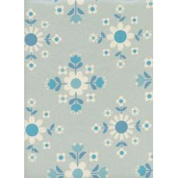 K3057-002 Welsummer - Florametry - Ice Unbleached Cotton Fabric