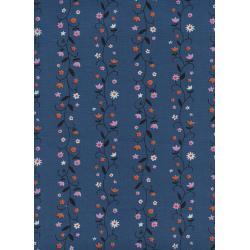 K3061-001 Welsummer - Daisy Vines - Denim Unbleached Cotton Fabric