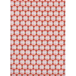 K3063-002 Welsummer - Chicken Wire - Poppy Unbleached Cotton Fabric