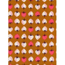 K3040-002 Yours Truly - Strawberry - Gold Fabric
