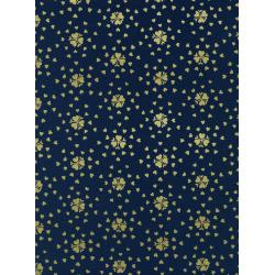 K3044-002 Yours Truly - Hearburst - Gold Metallic Fabric