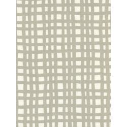 K3046-001 Yours Truly - Going Steady Grid - Natural Unbleached Cotton Fabric