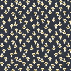 LV202-DS3U In The Woods - Mushroom - Dark Slate Unbleached Fabric