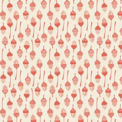 LV204-CO2U In The Woods - Acorn - Coral Unbleached Fabric