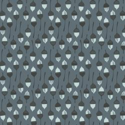 LV204-SL3U In The Woods - Acorn - Slate Unbleached Fabric