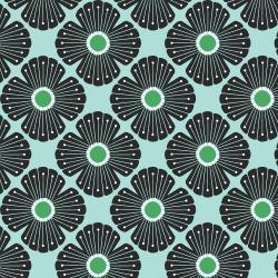 LV402-KG4C On a Spring Day - Blossom - Kelly Green Canvas Fabric