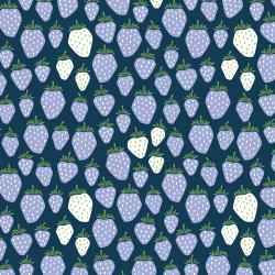 LV500-CB4 Under the Apple Tree - Queen of Berries - California Blue Fabric
