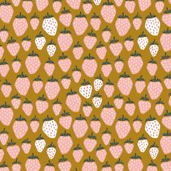 LV500-GY3 Under the Apple Tree - Queen of Berries - Golden Yellow Fabric