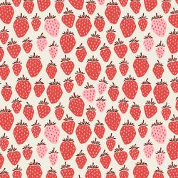 LV500-PB2 Under the Apple Tree - Queen of Berries - Pink Berry Fabric