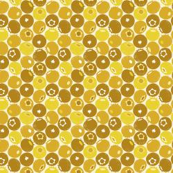LV501-SY2 Under the Apple Tree - Blueberry - Summer Yellow Fabric