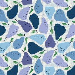 LV502-BL3 Under the Apple Tree - Quince - Blue Fabric