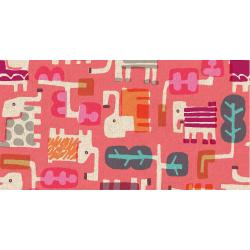 MS100-PE4C Safari - Elephant Walk - Peach Canvas Fabric