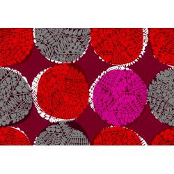 MS102-RU5R Safari - Nest - Ruby Rayon Fabric