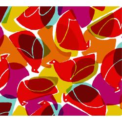 MS103-RU3R Safari - Tweet - Ruby Rayon Fabric
