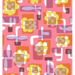 MS104-CO1 Safari - Flower Box - Coral Fabric