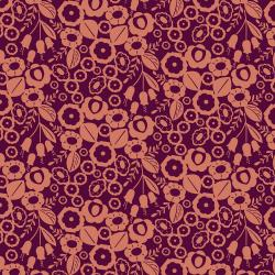 MC106-BO4C Emilia - Adele - Burnt Orange Canvas Fabric