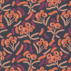 MC205-BP2UC Glory - LUELLA - Blackberry Punch Unbleached Canvas Fabric