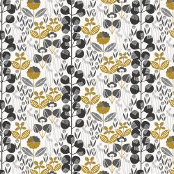 MC300-BK4M Penny Cress Garden - Penny Cress - Black Metallic Fabric