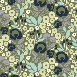 MC301-WG1 Penny Cress Garden - Agnes - Wishful Green Fabric