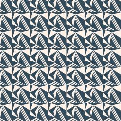 MC304-DT4 Penny Cress Garden - Caraway - Deep Teal Fabric