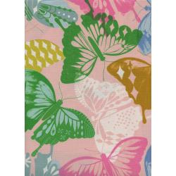 M0058-002 Flutter - Flutter - Pink Unbleached Cotton Fabric