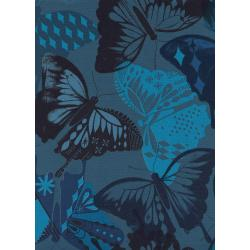 M0058-003 Flutter - Flutter - Navy Unbleached Cotton Fabric