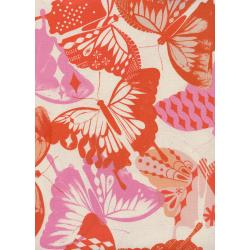 M0058-004 Flutter - Flutter - Orange Unbleached Cotton Fabric