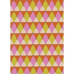 M0060-002 Flutter - Prism - Pink Unbleached Cotton Fabric