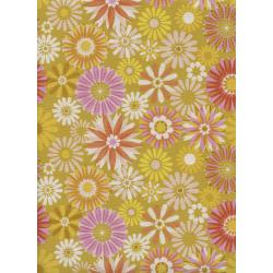 M0061-003 Freshly Picked - Garden - Yellow Unbleached Cotton Fabric