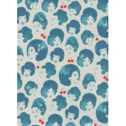 M0027-002 Fruit Dots - Dottie's Friend - Blue Fabric