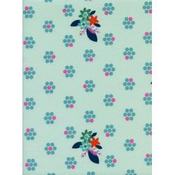 M0029-002 Fruit Dots - Fruit Blossoms - Mint Fabric
