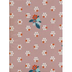M0029-004 Fruit Dots - Fruit Blossoms - Dusty Pink Fabric