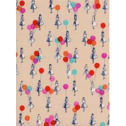 M0045-002 Jubilee - Balloons - Peach Unbleached Cotton Fabric