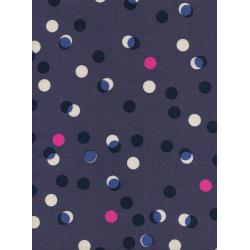M0047-001 Jubilee - Party Lights - Blue Unbleached Cotton Fabric