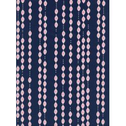 M0049-001 Jubilee - Lanterns - Navy Unbleached Cotton Neon Pigment Fabric