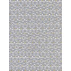 M0050-001 Jubilee - Crinoline - Grey Unbleached Cotton Metallic Fabric