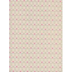 M0050-002 Jubilee - Crinoline - Pink Unbleached Cotton Neon Pigment Fabric