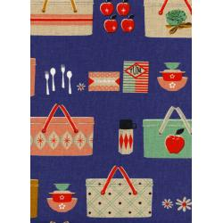M0018-032 Picnic - Picnic Baskets - Cobalt Canvas Fabric