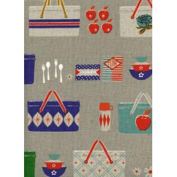 M0018-042 Picnic - Picnic Baskets - Neutral Canvas Fabric