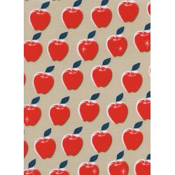 M0021-001 Picnic - Apples - Red Fabric