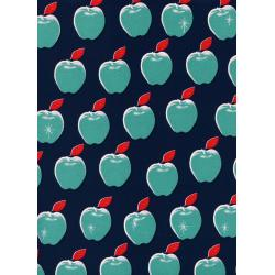 M0021-002 Picnic - Apples - Navy Fabric