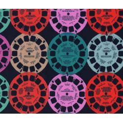 M0012-003 Playful - Viewfinders - Navy Fabric