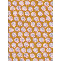 M0036-003 Trinket - Spools - Yellow Unbleached Cotton Fabric