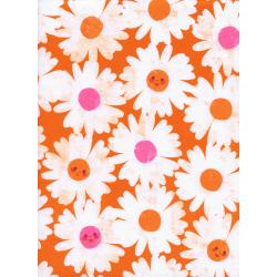 M0037-001 Trinket - Happy Garden - Orange Fabric
