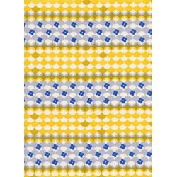 M0038-001 Trinket - Gumdrops - Yellow Unbleached Cotton Fabric
