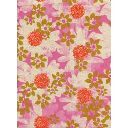 M0041-012 Trinket - Daisy Fields - Pink Canvas Fabric