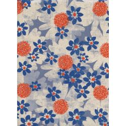 M0041-022 Trinket - Daisy Fields - Blue Canvas Fabric