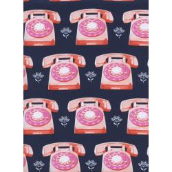 M0042-002 Trinket - Telephones - Navy Fabric
