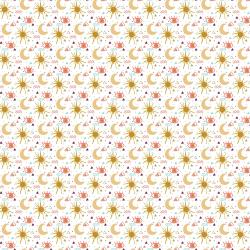 MP103-DR1M Sahara - My Sun and Stars - Desert Rose Metallic Fabric